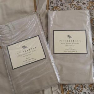 Pottery Barn Silk Duvet Set